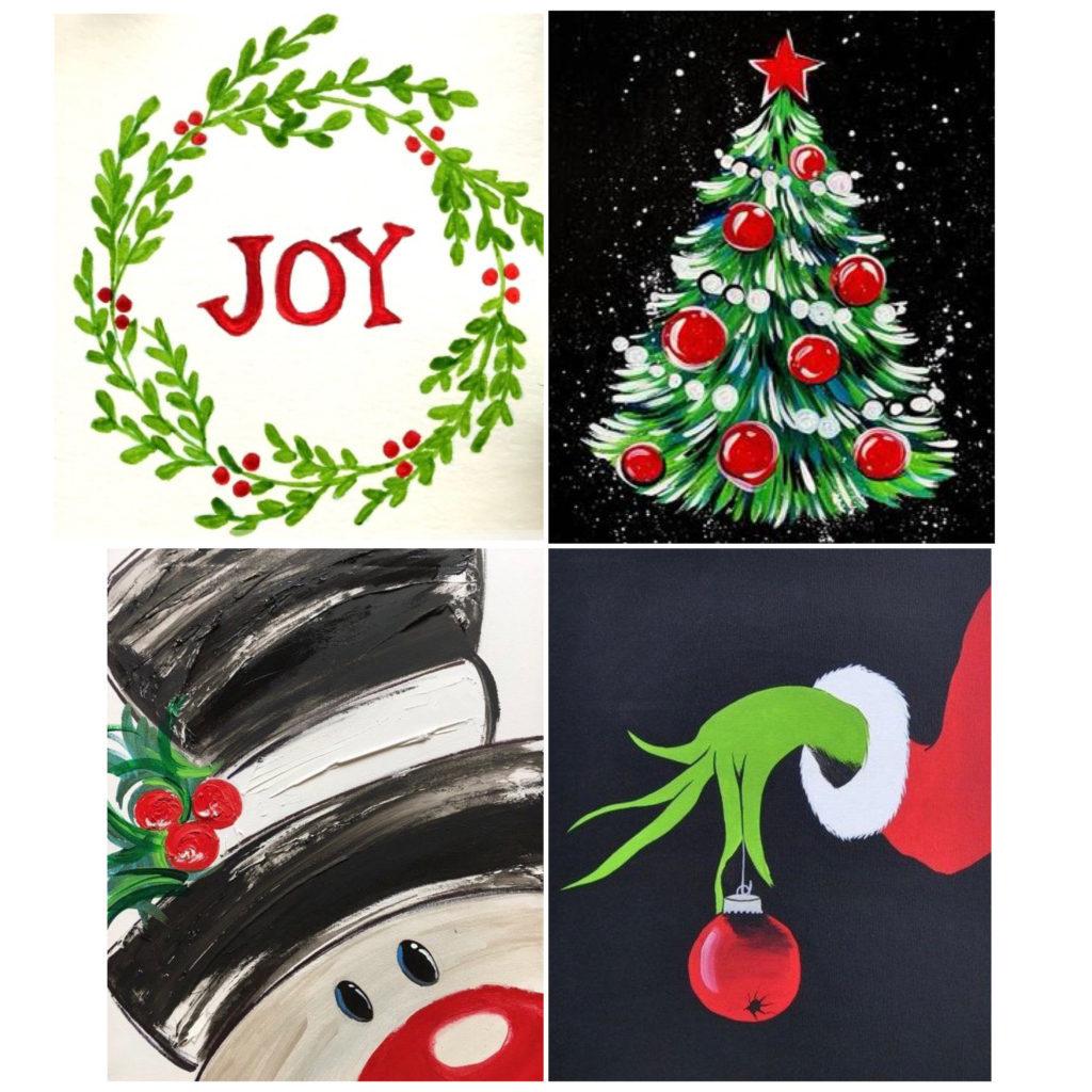 Holiday Paint-at-home-kits